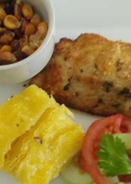 Filete de pescado empanizado a lo Carmelita
