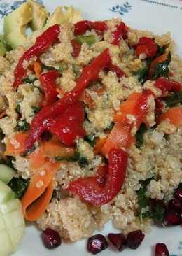 Salteado de kale con quinoa