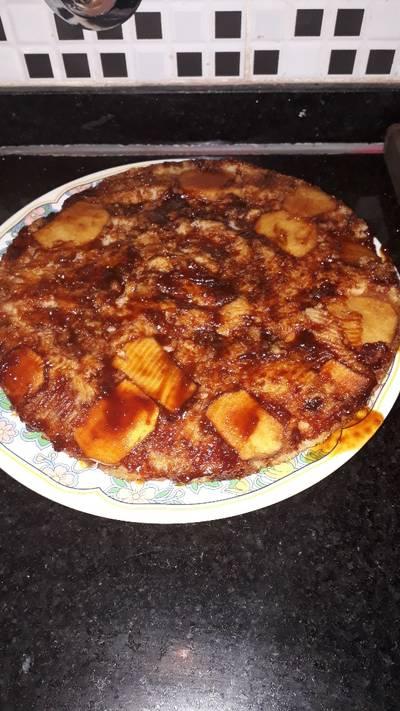 Tarta de manzana invetida