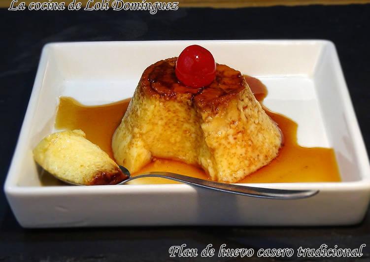 Flan de huevo casero tradicional (Sin horno)