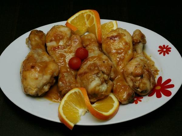 Muslos de pollo a la naranja🍊🍗💛 (perfectos para Navidad)