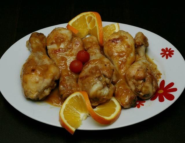 Receta muslos de pollo a la naranja Photo