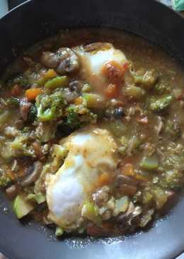 Guiso de verduras con huevos