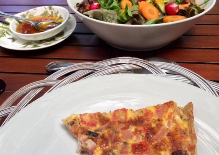 Cocina Para Principiantes Tarta De Jamon Ahumado A La Pizzaiola