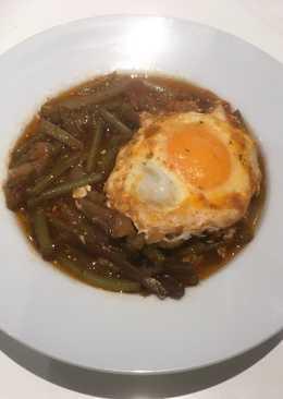Guiso de tagarninas con huevo
