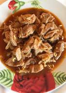 Cerdo con brotes de soja en salsa de ostras