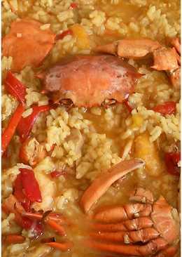 Arroz meloso de cangrejo