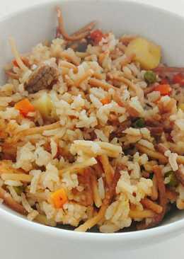 Arroz turco con carne 😊 Almuerzo completo