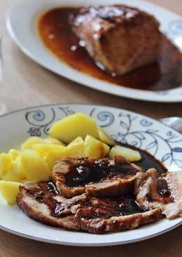 Lomo de cerdo con salsa de soja y miel