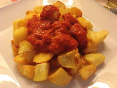 Patatas bravas extra picantes con truco!🌶🌶