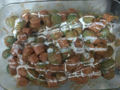 Malfattis (ñoquis de espinacas y ricota)y salsa con sachichas