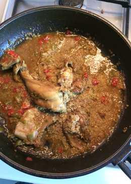 Conejo con quinoa en salsa