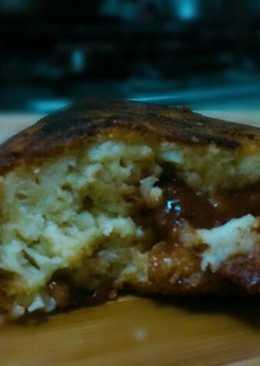 Torta de Pan con bocadillo en sartén