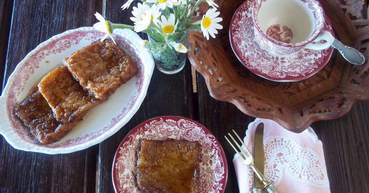 Torrijas de vino y miel Receta de Nuria Eme