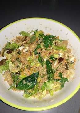 Ensalada de quinoa y brotes verdes