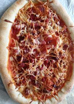 Pizza con masa madre,