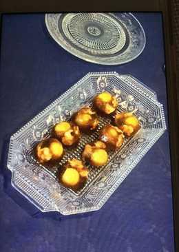 Bombones de vermut con berberechos y olivas