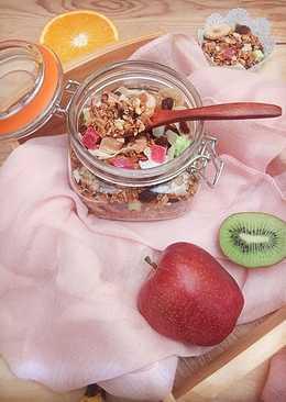 Granola casera. Recetas saludables para diabetes