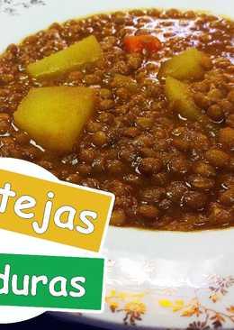 Lentejas con verduras/Lentejas sin carne/ Lentejas veganas