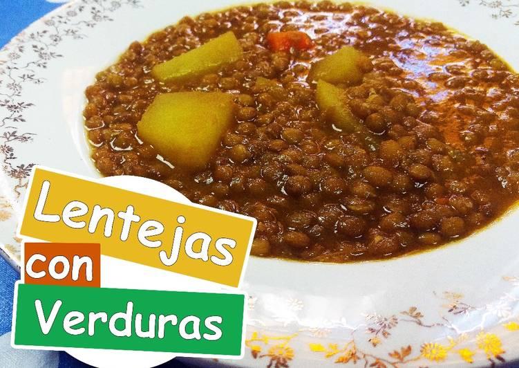 Lentejas con verduras/Lentejas sin carne/ Lentejas veganas Receta de ...
