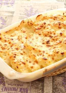 Verduras Gratinadas con queso gorgonzola