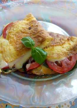 Omelette caprese! Fácil rápido y delicioso!