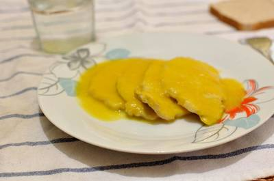 Lomo de cerdo en salsa de zanahorias