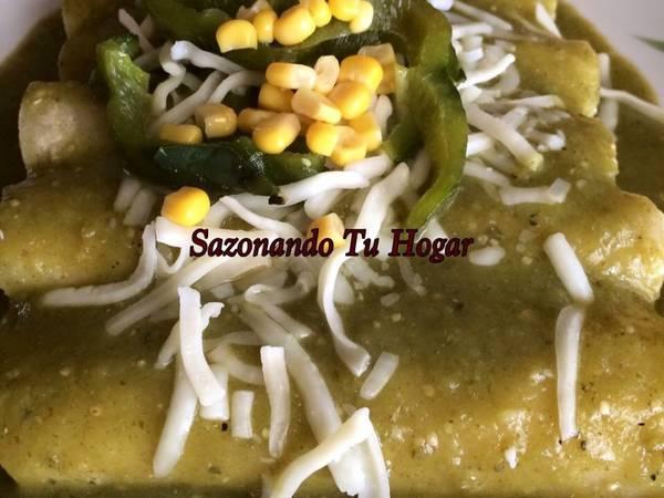 Enchiladas poblanas a mi estilo💖