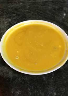 Crema rápida de verduras con queso Roquefort