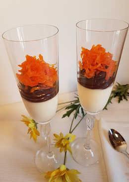 Trifle de zanahoria, chocolate y nata!