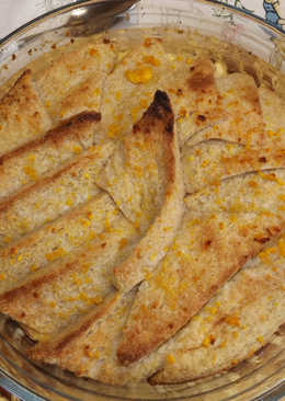 Pastel italiano de manzana y pan