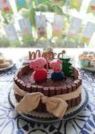 Tarta kit kat de chocolate y trufa - Tarta 1º cumpleaños de Mateo 👶🏻🎂