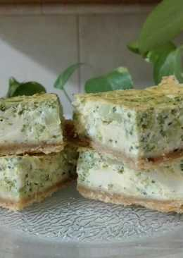 Tarta de brócoli y quesos