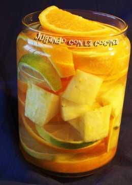Agua Detox de frutas - Anticelulitis