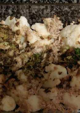 Brócoli y coliflor con salsa de hierbas