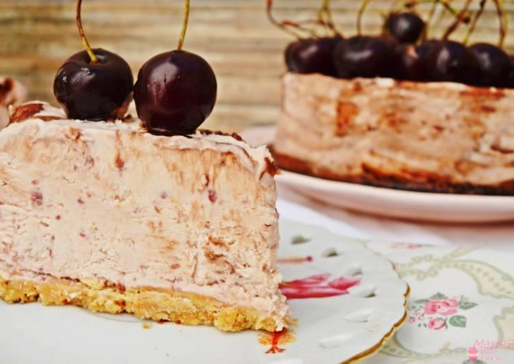 Tarta helada de cerezas