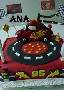 Torta pista de cars para cumpleaños