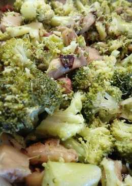 Brócoli salteado con setas