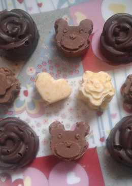 Bombones de chocolate crujientes fáciles y rápidos