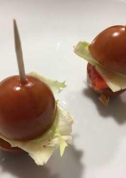 Mini-hamburguesa vegetariana