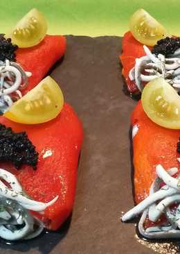 Piquillos rellenos de torta del casar