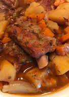 Costillas estofadas con patatas