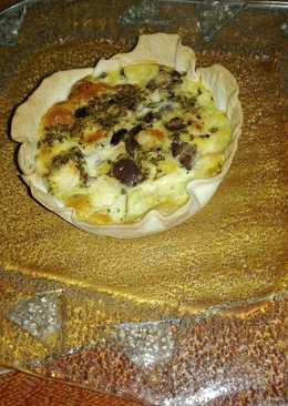 Tartitas de aceituna negra y queso
