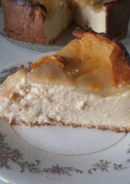 Tarta de pera con yogurt