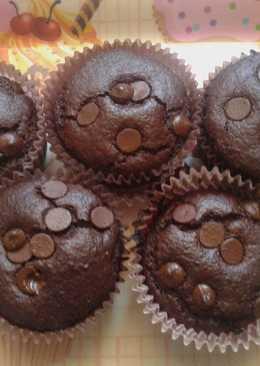 Magdalenas integrales de chocolate