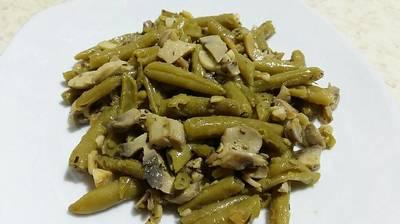 Judias verdes con champiñones