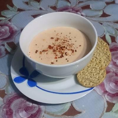 Sopa crema de cacahuate