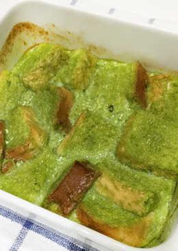 Pan Pudding Rápido de Té Verde Matcha