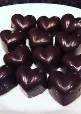 Bombones de chocolate rellenos de oreo