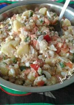 Patatas aliñadas o aliño de papas